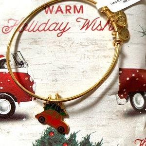 Alex and Ani Christmas car bracelet gold VW bus